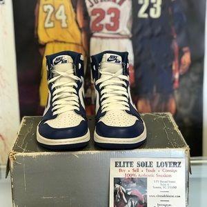 287fb4e3c4f097 Jordan Shoes - Air Jordan 1 storm blue Sz 9.5
